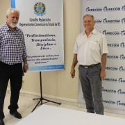 Daniel Nery do Vabo ficou encantado com a nova sede do conselho e elogiou gestão do presidente, José Alcides dos Santos