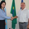 Palestrante Dharleng Carmpos e o presidente, José Alcides