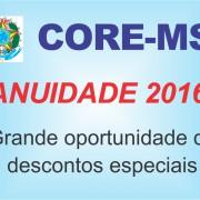 comunicado anuidade 2016