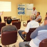 Durante evento, o SIRECOM-MS e a Fecomércio/MS apresentaram os projetos de lei que impactam a categoria. Foto: Assessoria de Imprensa